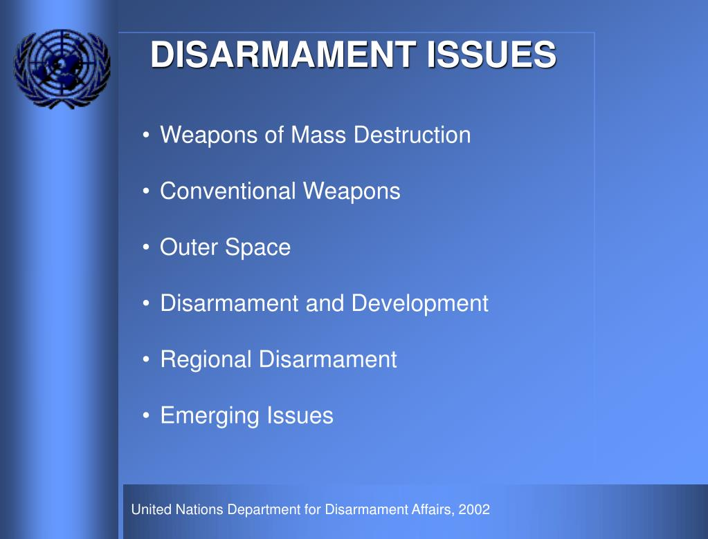 DISARMAMENT ISSUES