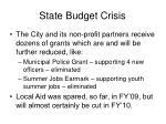 state budget crisis