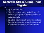 cochrane stroke group trials register