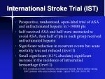 international stroke trial ist