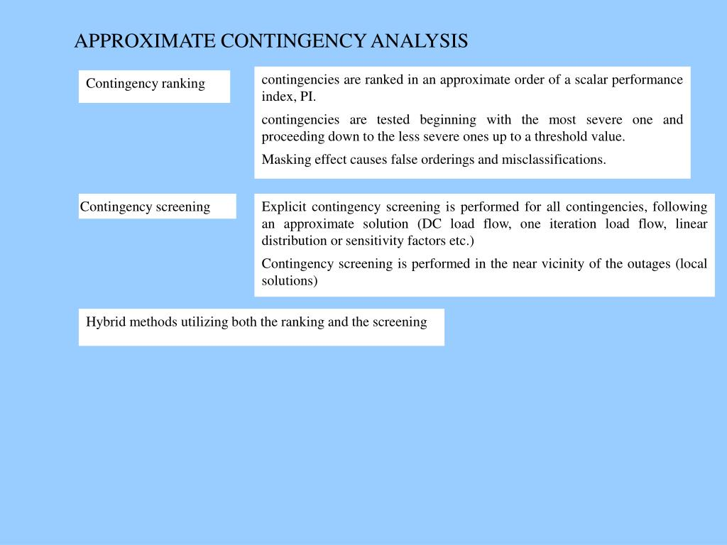 APPROXIMATE CONTINGENCY ANALYSIS