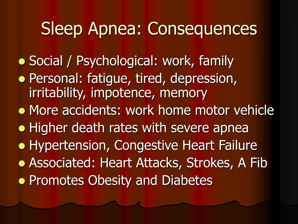 Sleep Apnea: Consequences