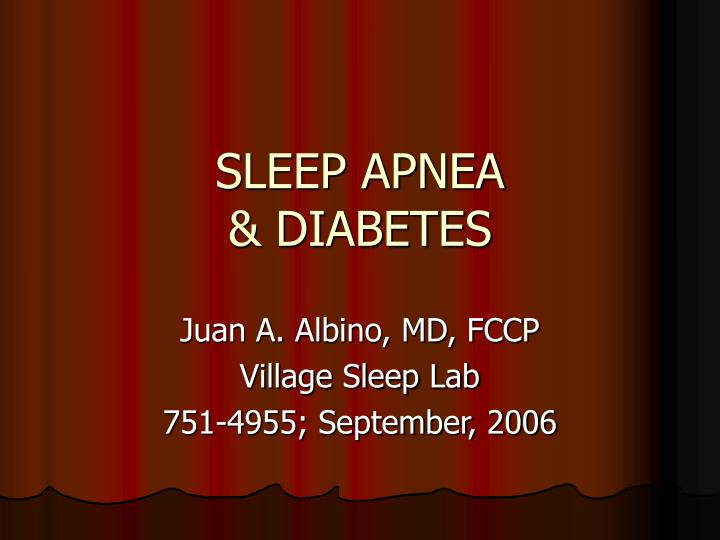 Sleep apnea diabetes