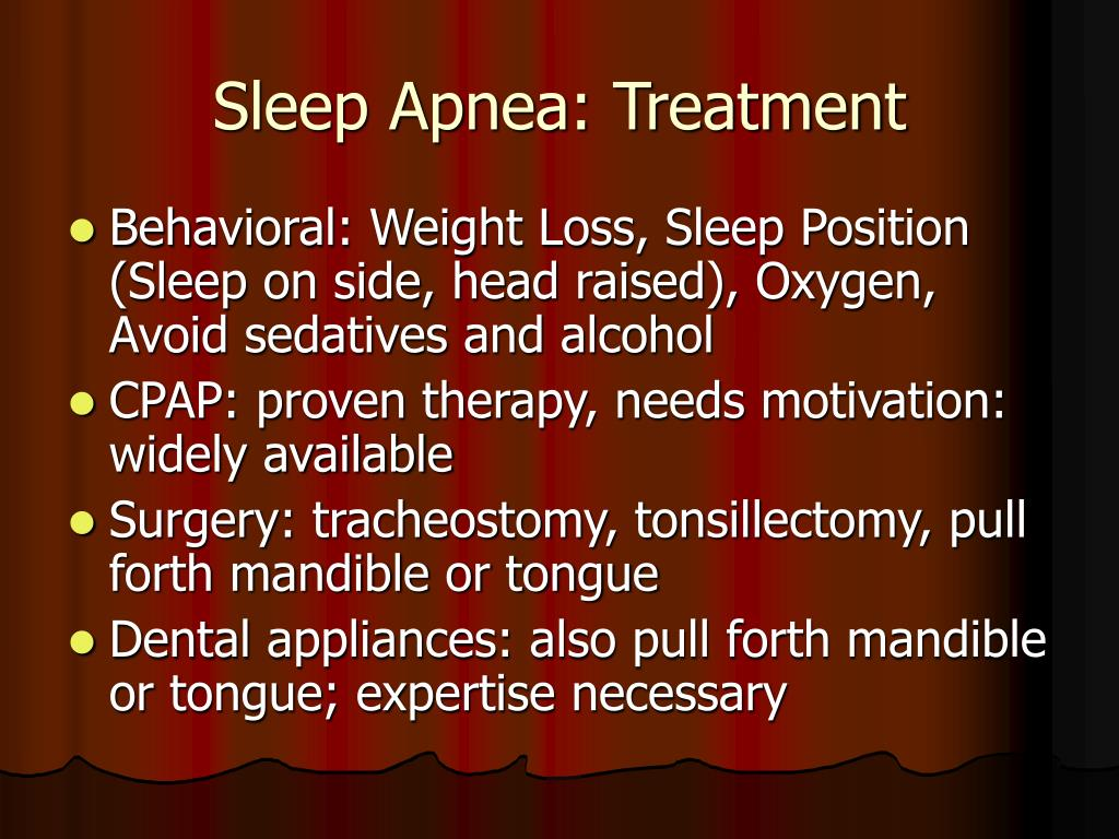 Sleep Apnea: Treatment