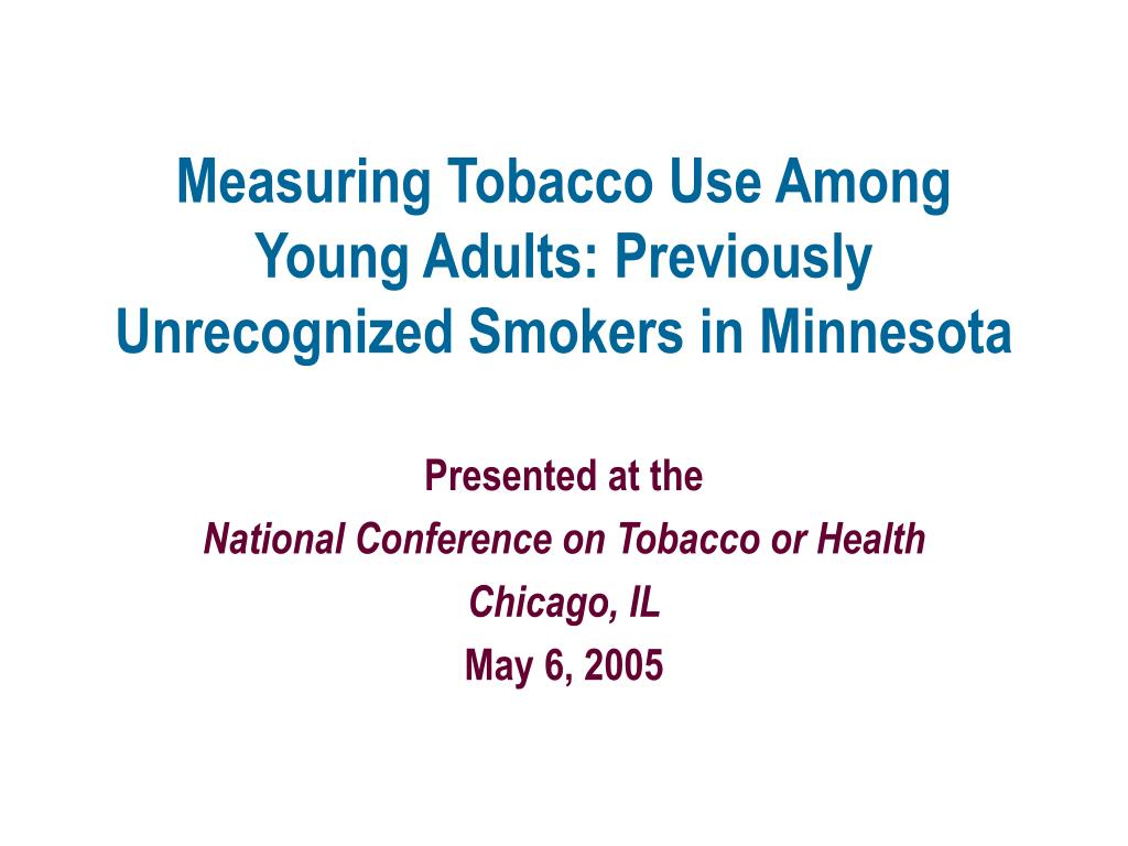 Measuring Tobacco Use Among Young Adults: Previously Unrecognized Smokers in Minnesota
