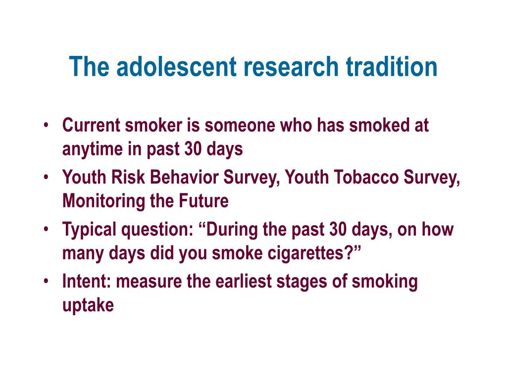 The adolescent research tradition