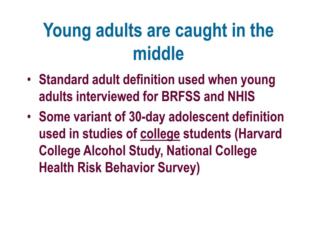 Young adults are caught in the middle