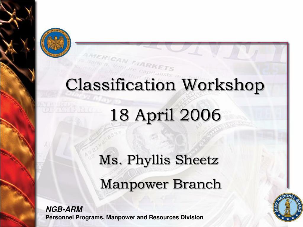 Classification Workshop