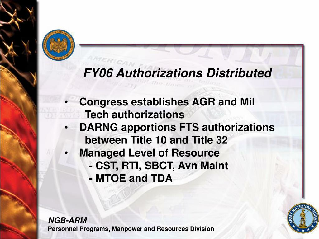 FY06 Authorizations Distributed