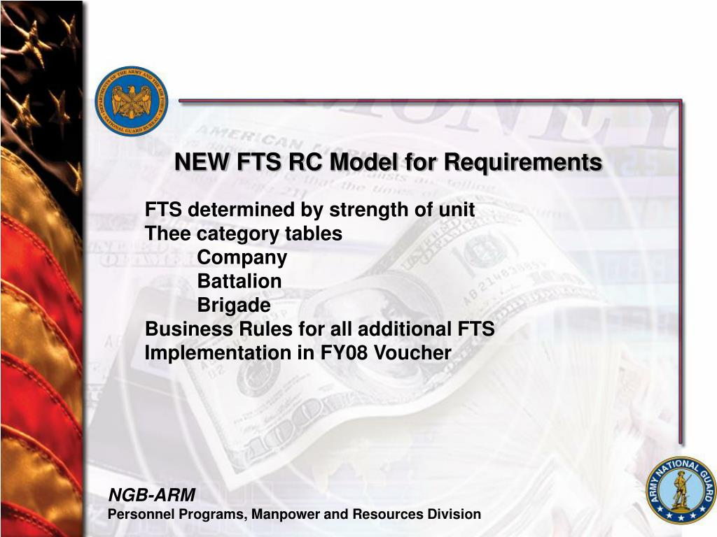 NEW FTS RC Model for Requirements