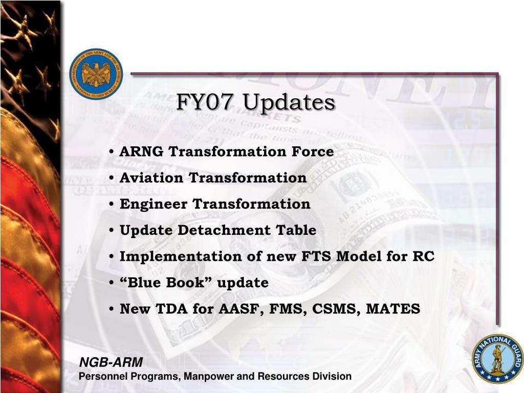 FY07 Updates