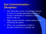 eye communication deception
