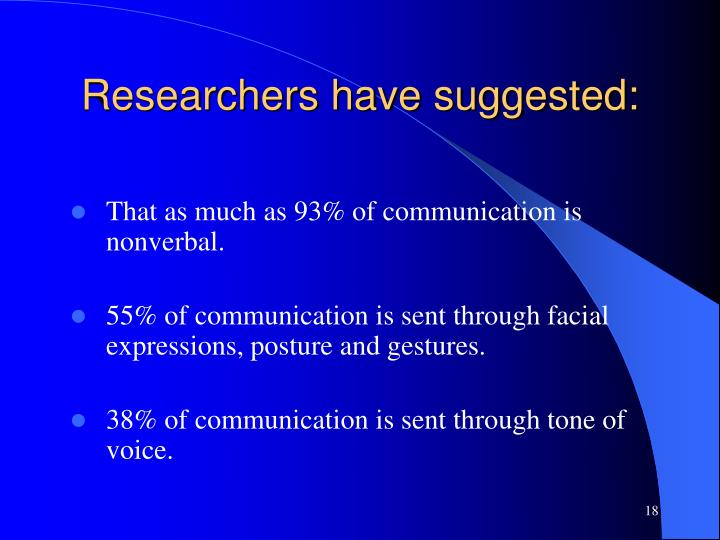 Researchers have suggested: