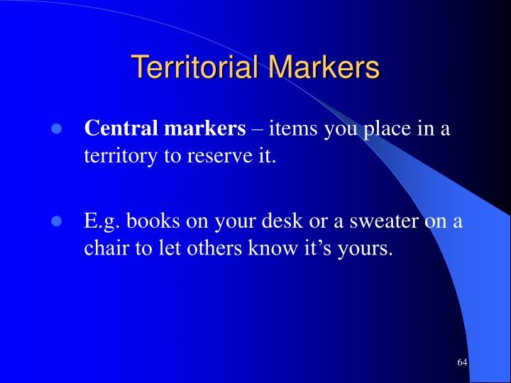 Territorial Markers