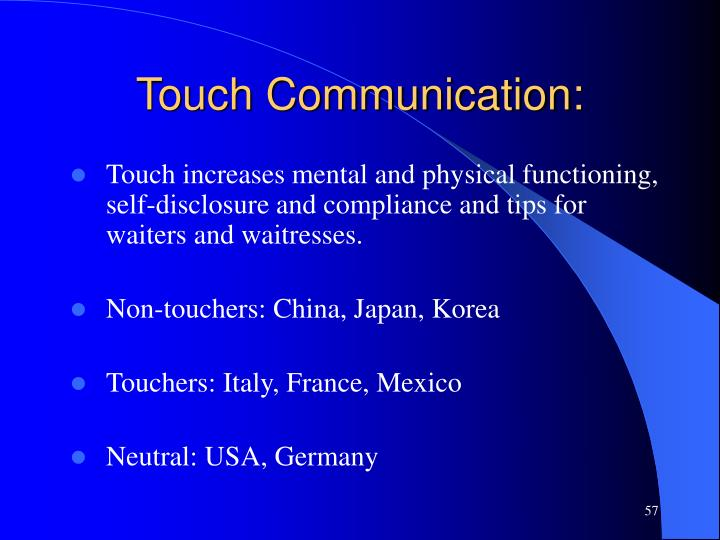 Touch Communication: