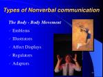 types of nonverbal communication4