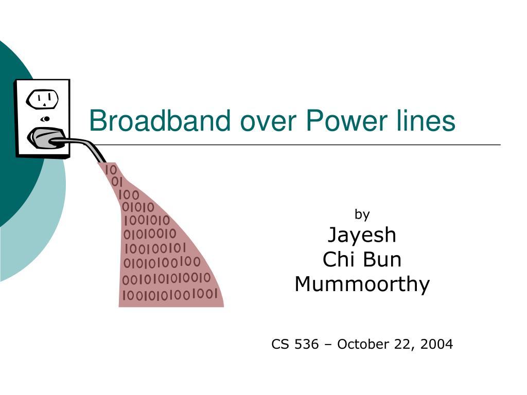 Broadband over Power lines