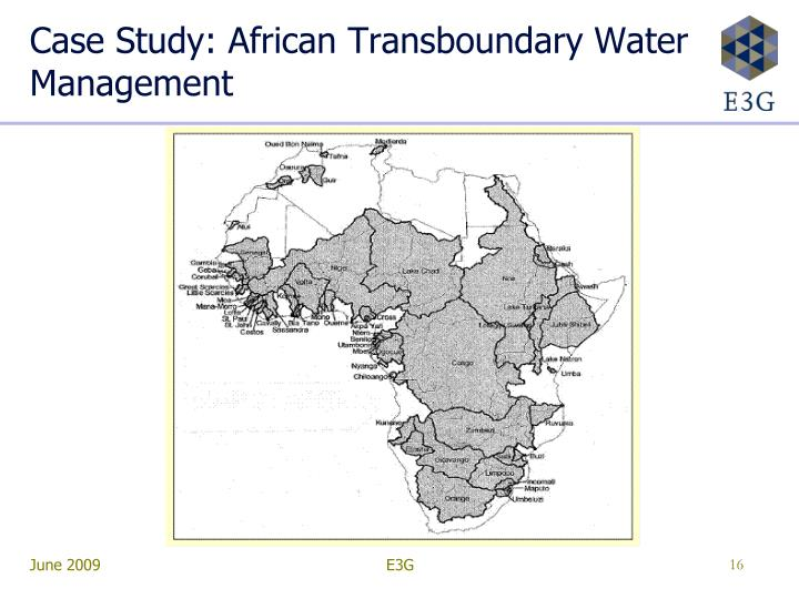 Case Study: African Transboundary Water Management