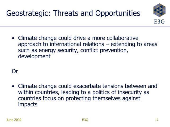 Geostrategic: Threats and Opportunities