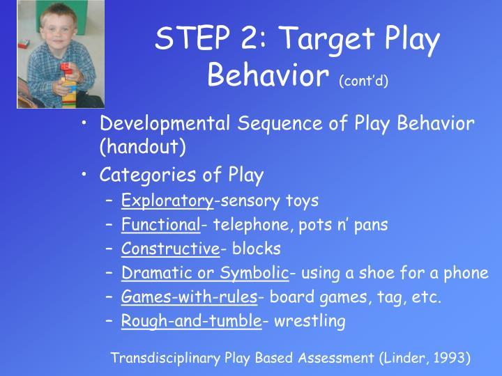STEP 2: Target Play Behavior