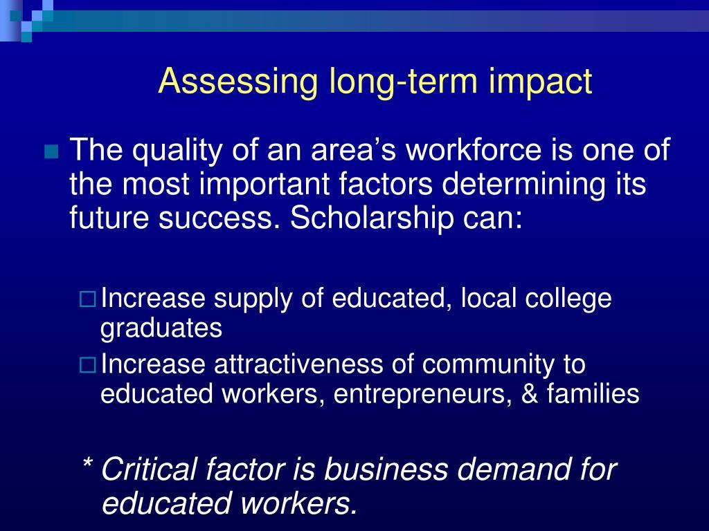 Assessing long-term impact