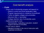 cost benefit analysis17