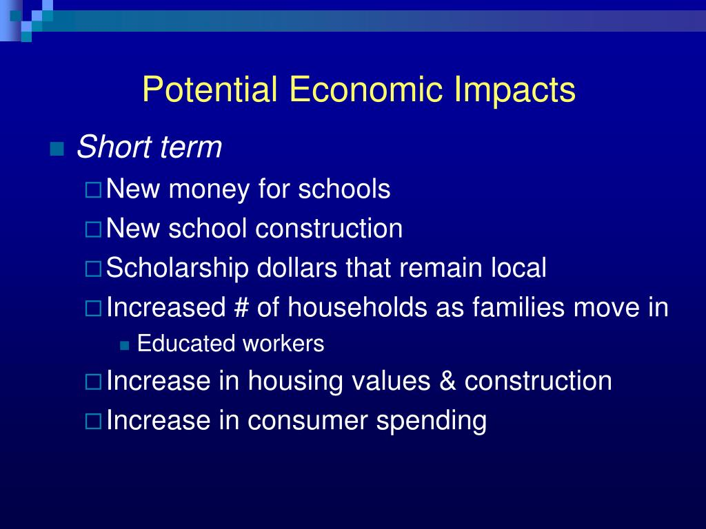 Potential Economic Impacts