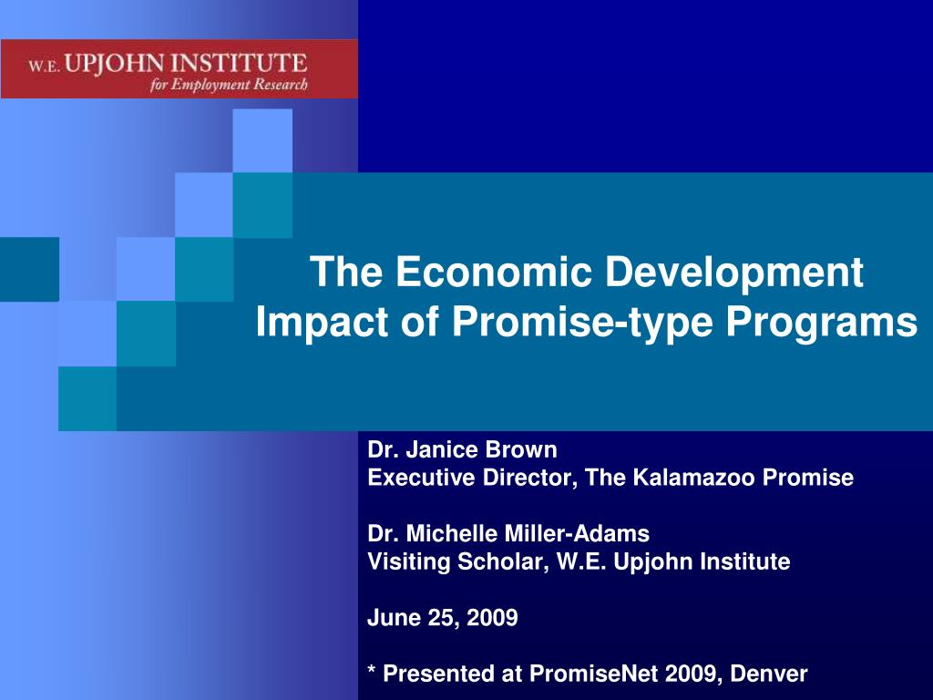 the economic development impact of promise type programs