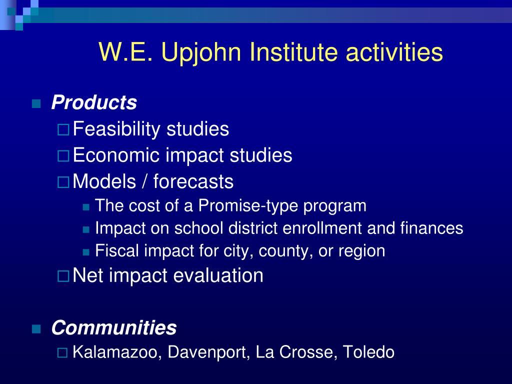 W.E. Upjohn Institute activities