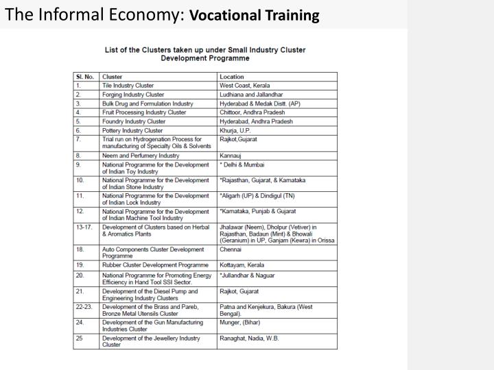 The Informal Economy: