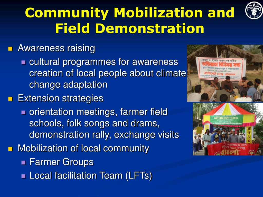 Community Mobilization and Field Demonstration