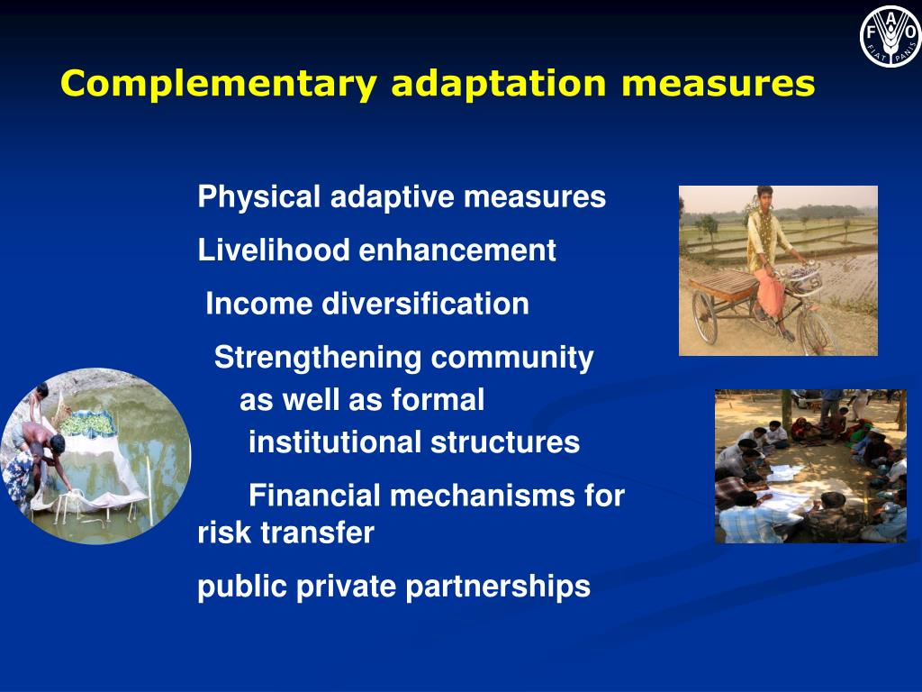 Complementary adaptation measures