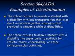 section 504 ada examples of discrimination14