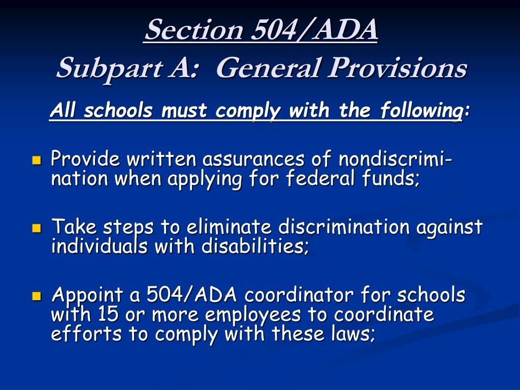 Section 504/ADA