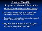 section 504 ada subpart a general provisions20