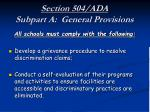 section 504 ada subpart a general provisions22