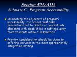 section 504 ada subpart c program accessibility28
