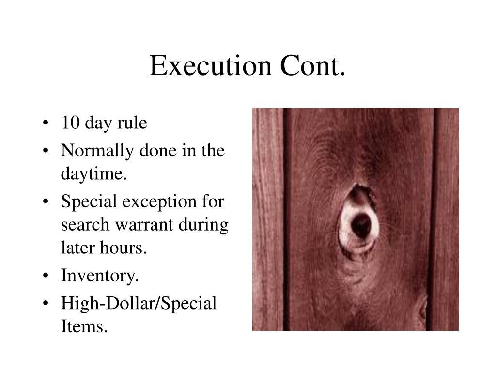 Execution Cont.