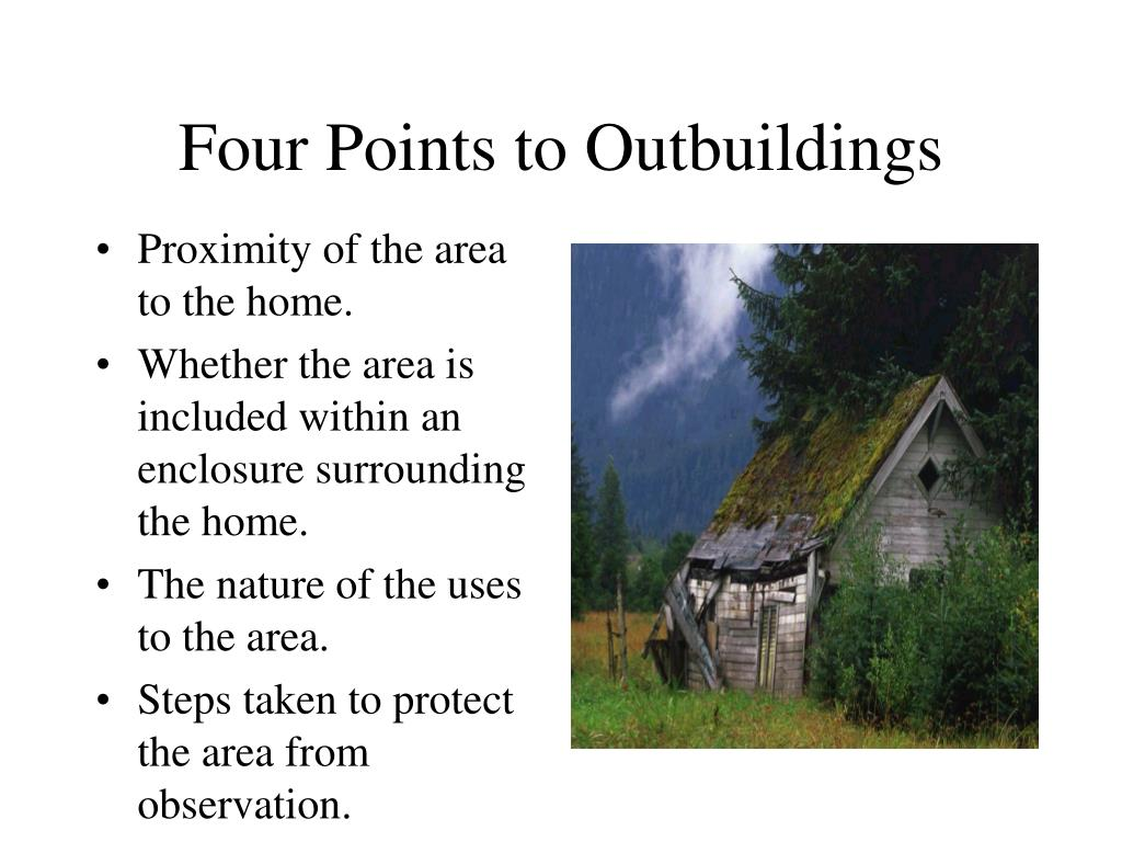 Four Points to Outbuildings