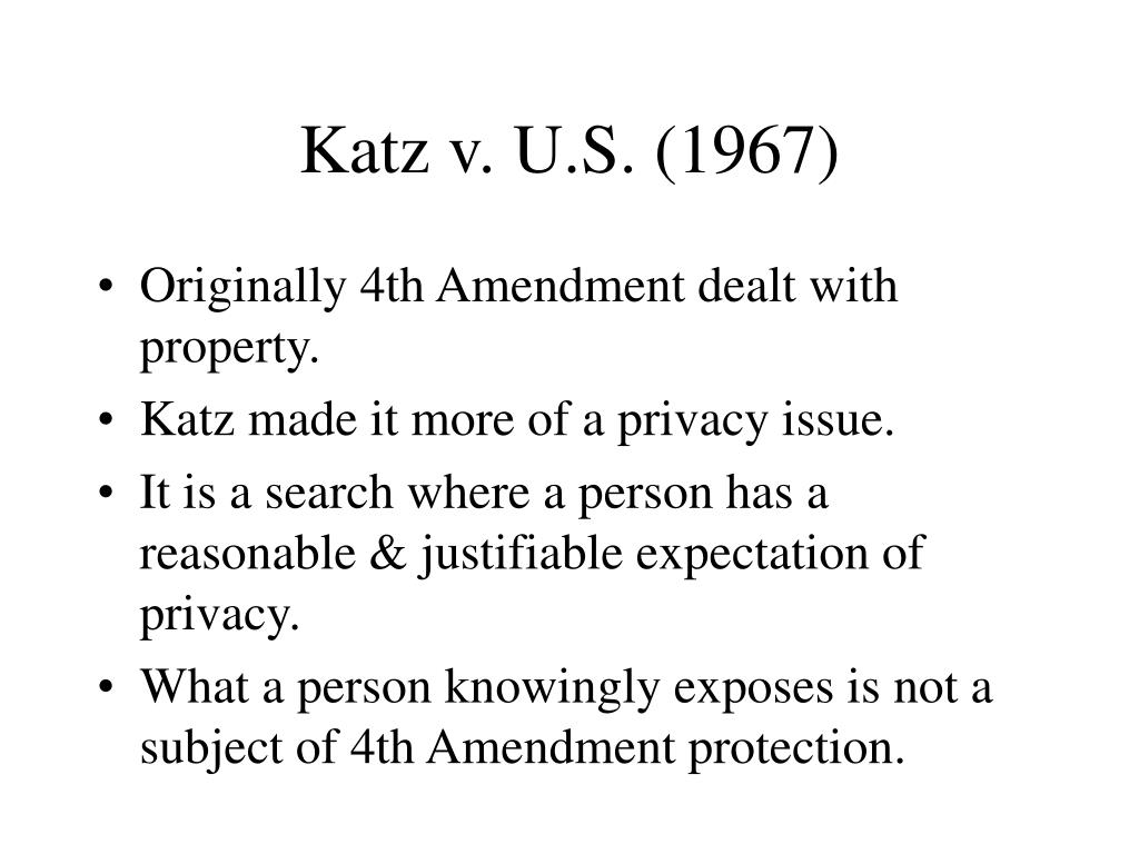 Katz v. U.S. (1967)
