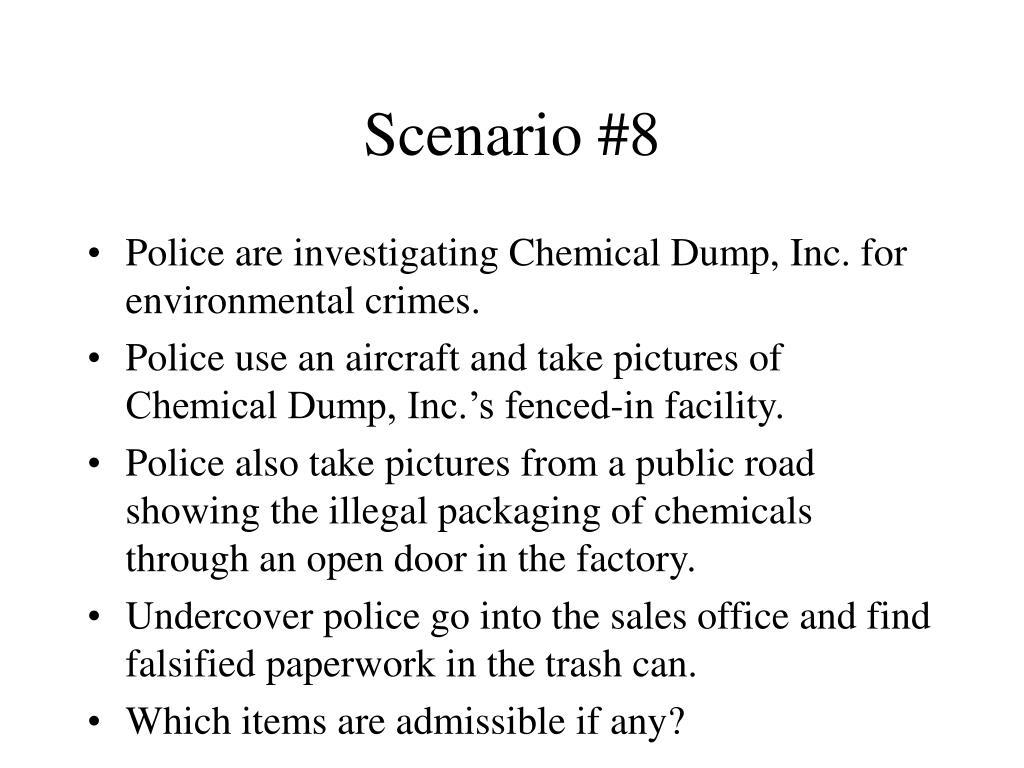 Scenario #8