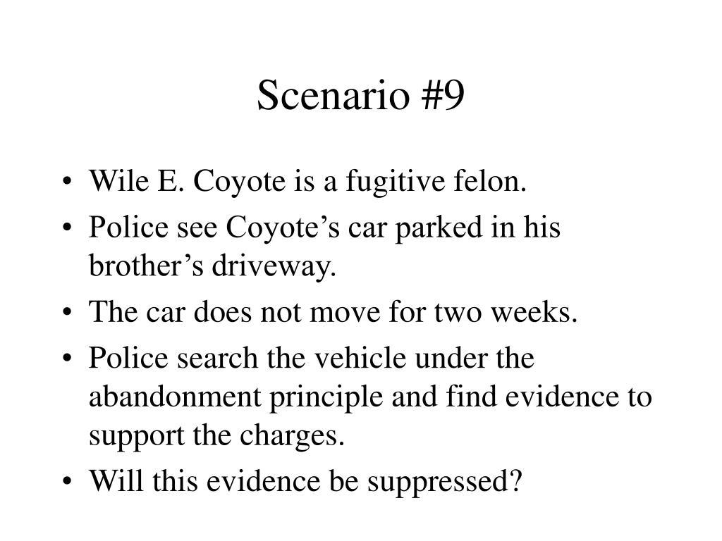 Scenario #9