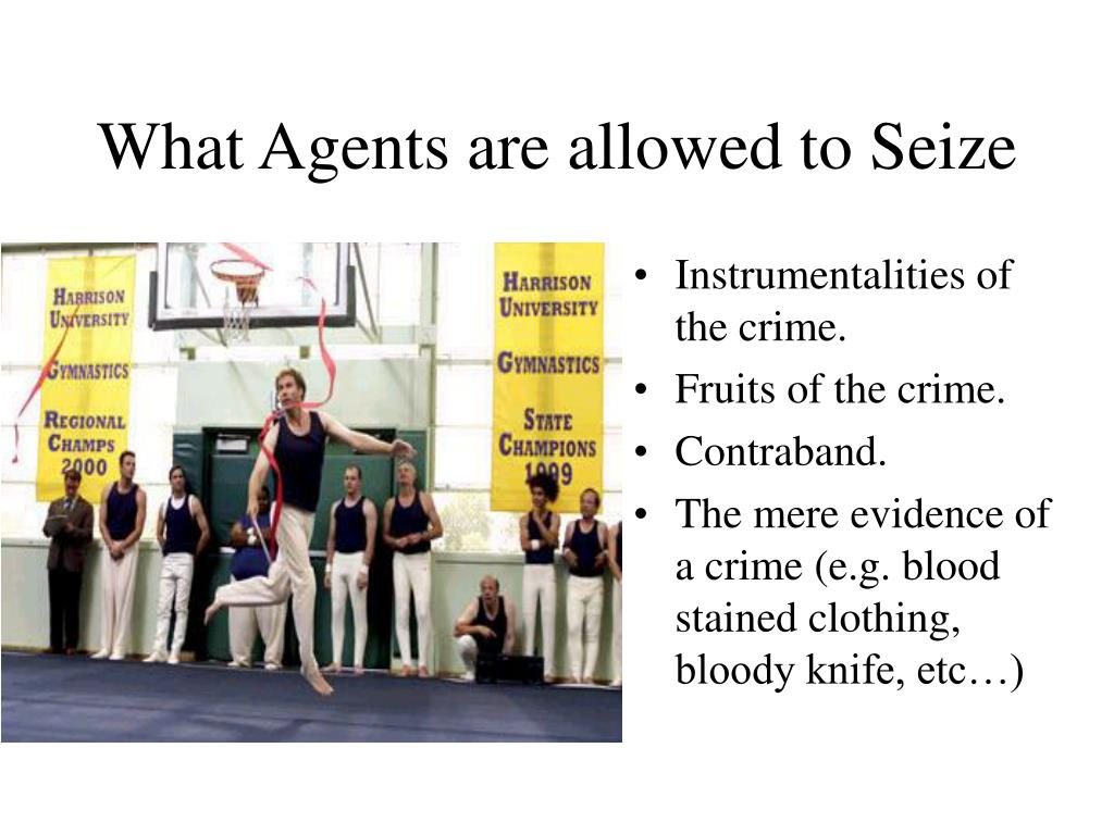 What Agents are allowed to Seize