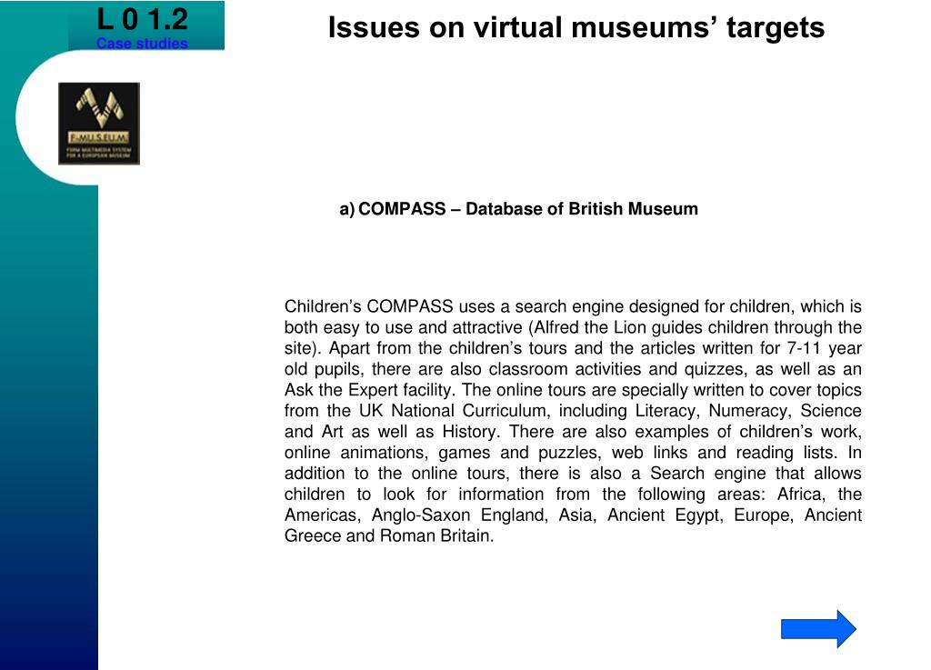 a)COMPASS – Database of British Museum