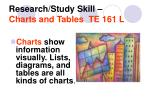 research study skill charts and tables te 161 l