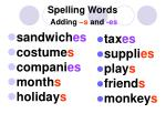 spelling words adding s and es1