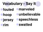 vocabulary say it
