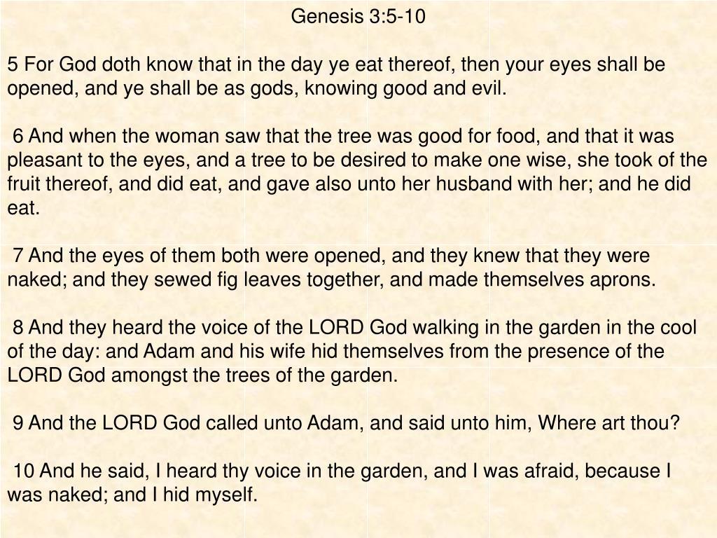 Genesis 3:5-10