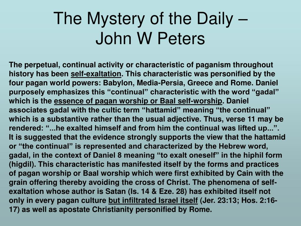 The Mystery of the Daily –