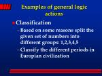 examples of general logic actions1
